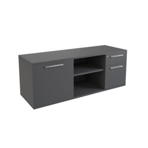 Auxiliary furniture of 1600 mm with drawer + cabinet and door, made of bilaminate board.