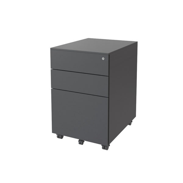 Metal drawer with 2 drawers plus drawer size file 390 wide, 500 bottom and 600 height.