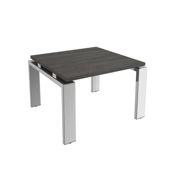 Coffee table of 700x480 mm, made of bilaminate board of agglomerate and legs in chromed metal.