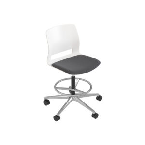 Stool swivel base 5 wheels, without arms.