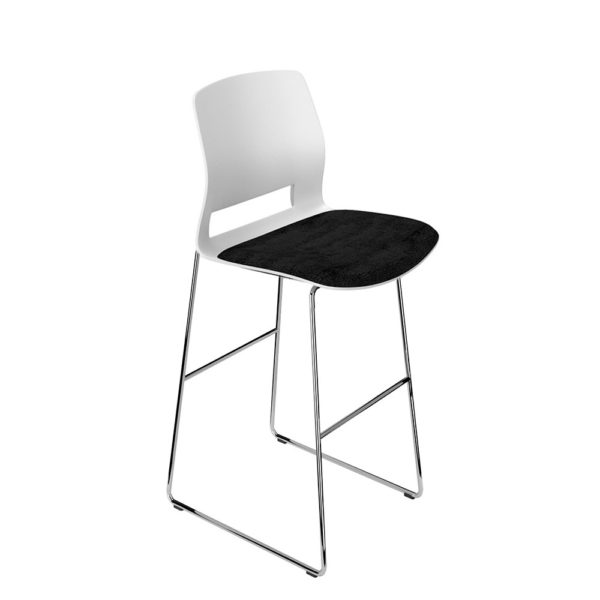 Contract stool, no arms.