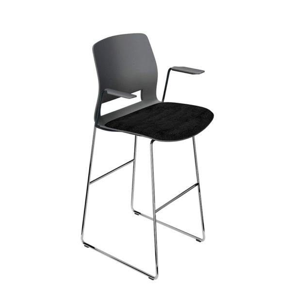 Contract stool, with arms.