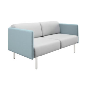 Low sofa of two seats and width 165cm, Piem series.
