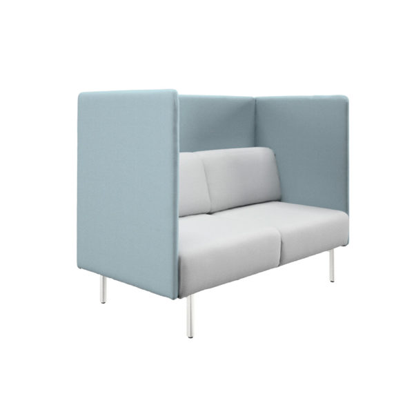 High sofa of two seats and width 165cm, Piem series.