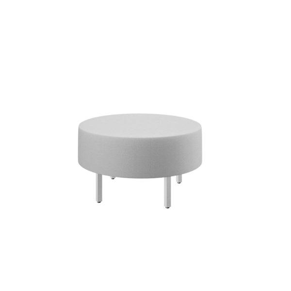 Puff redondo de diámetro 90cm, serie Piem.