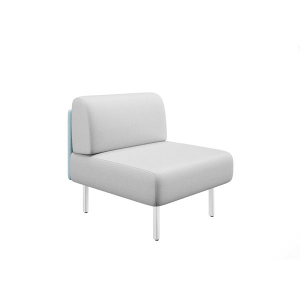 Sofa of a square without sides and width 83cm, Piem series.