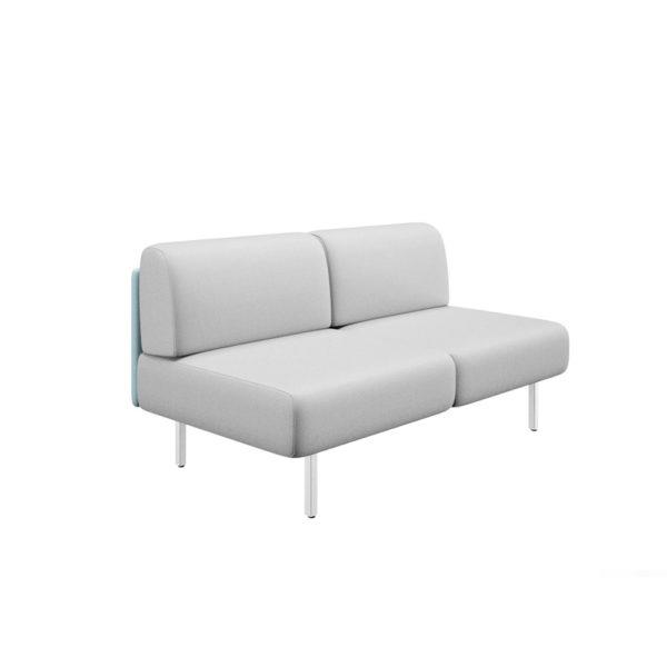 Sofá de dos plazas con lateral izquierdo y ancho 161cm, serie Piem.