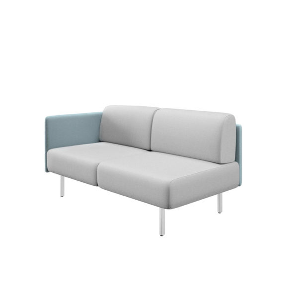 Two-seater sofa with left side and width 161cm, Piem series.