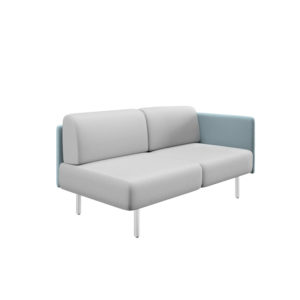 Two-seater sofa with right side and width 161cm, Piem series.