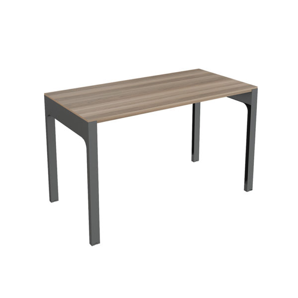 1200 mm side table, made of bilaminate agglomerate board.
