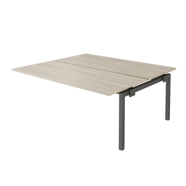 Bench 1600 x 1630 mm table extension made of 25 mm thick bilaminate agglomerate board, plated with 2 mm PVC edge.
