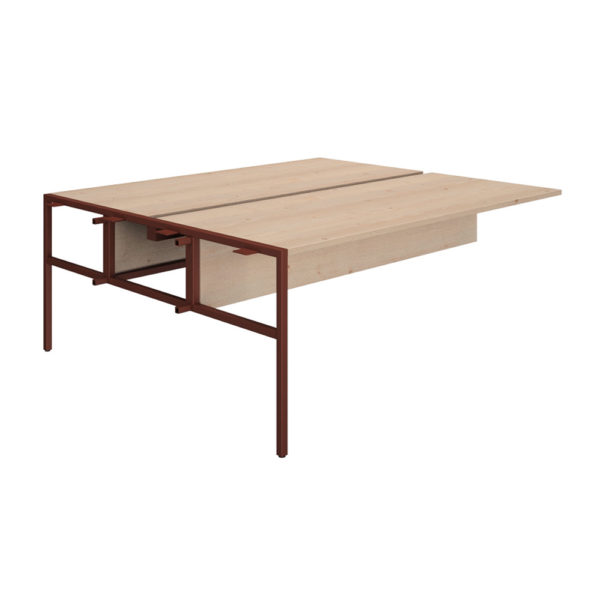 Extension for table type Bench 1200 mm, table top and skirt made of bilaminate board of agglomerate 25 mm thick and pvc plated edge of 2 mm.